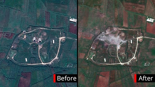 The chemical facility hit near Homs (Ynet)