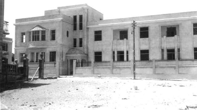 בניית בית החולים בשנת 1928 (צילום מתוך אוסף שולה וידריך)