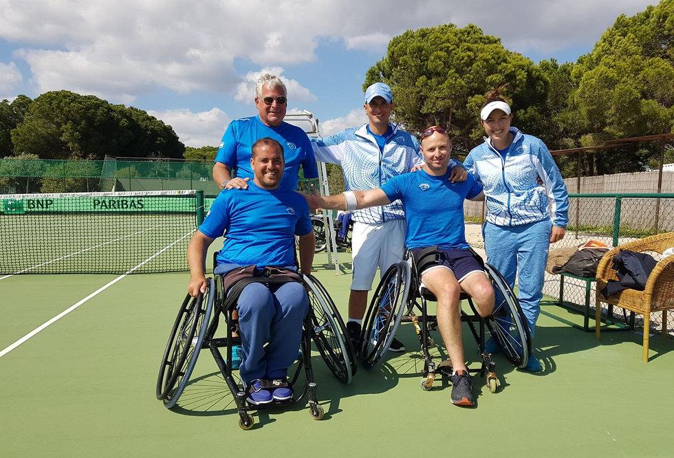 נבחרת ישראל טניס כיסאות גלגלים (צילום: באדיבות הוועד הפראלימפי)