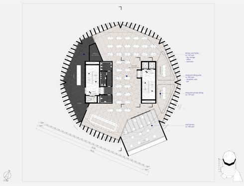 הצורה: מתומן (תוכנית: אפרת – קובלסקי אדריכלים ו- HEIDE & VON BECKERATH Architects)