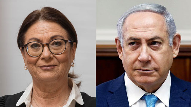 PM Netanyahu and Supreme Court Chief Justice Esther Hayut (Photo: Reuters, High Court's website)
