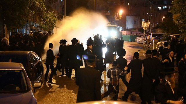 Haredim riot in Jerusalem over planned arrest of girl reluctant to enlist (Photo: TPS)