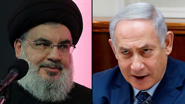 PM Netanyahu and Hezbollah leader Nasrallah (Photo: AFP)