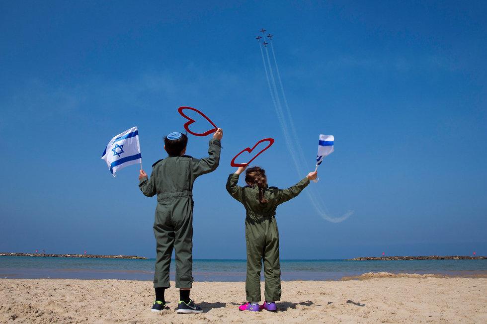Израильская армия готовится к авиашоу в День независимости. Фото: AP