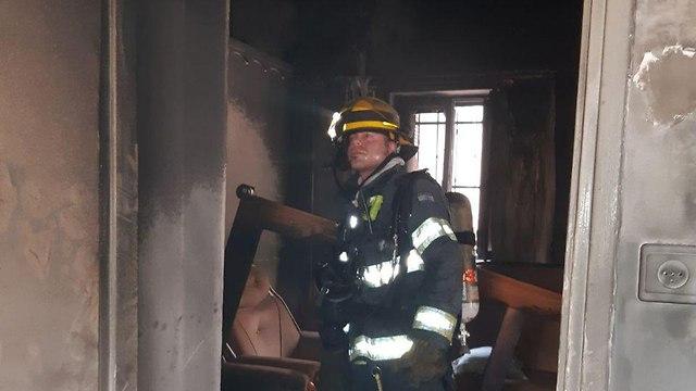 שריפה בכפר יאסיף (צילום: דוברות כיבוי והצלה)