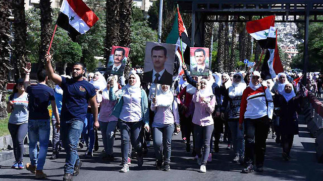 דומא, סוריה (צילום: AP)