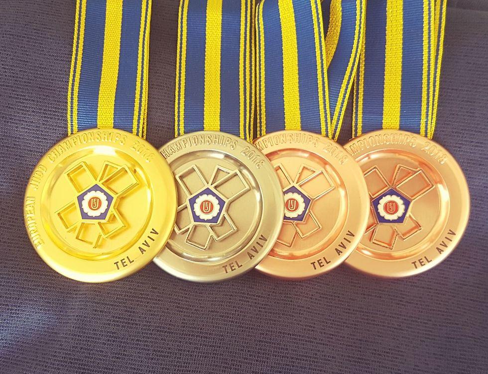 מדליות אליפות אירופה ג'ודו (צילום: איגוד הג'ודו)