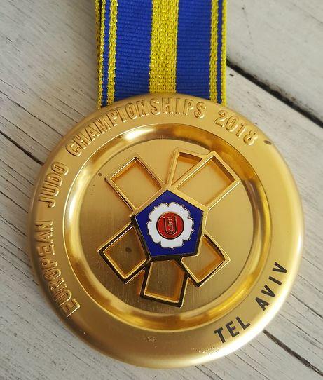 מדליות אליפות אירופה בג'ודו (צילום: איגוד הג'ודו)