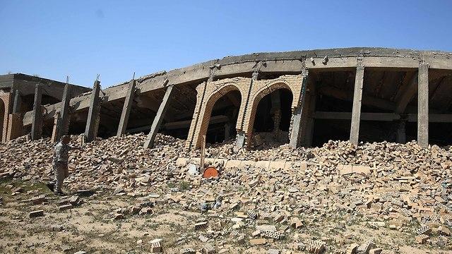 קבר סדאם חוסיין כפר אל-אווג'ה עיראק (צילום: AFP)