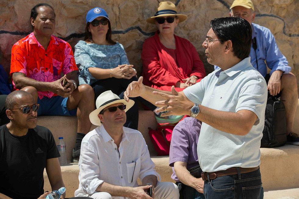 Danon at Massada (Photo: Avi Dudi)