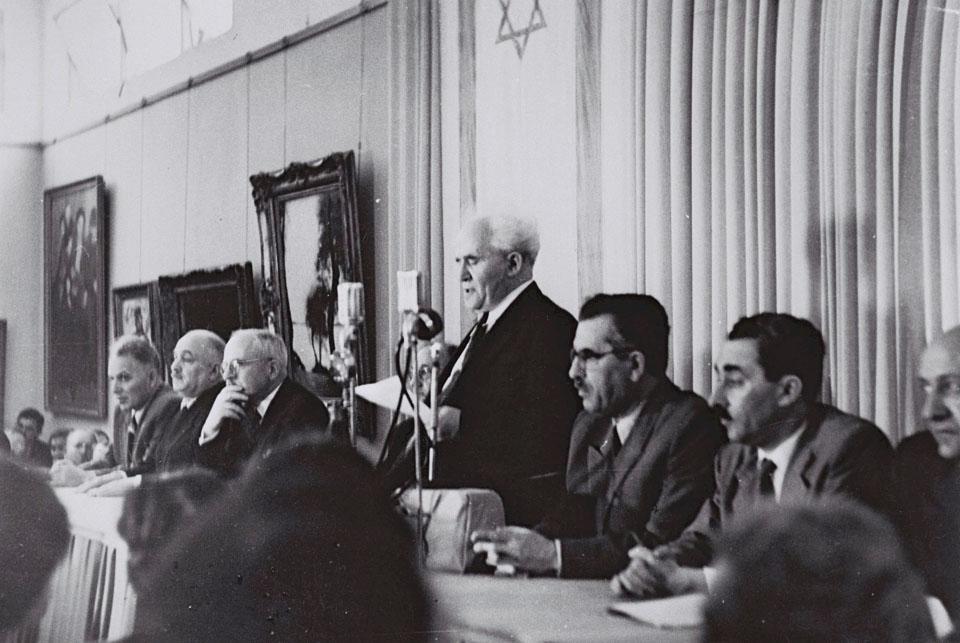 Давид Бен-Гурион провозглашает создание Государства Израиль 14 мая 1948 года. Фото: пресс-служба правительства