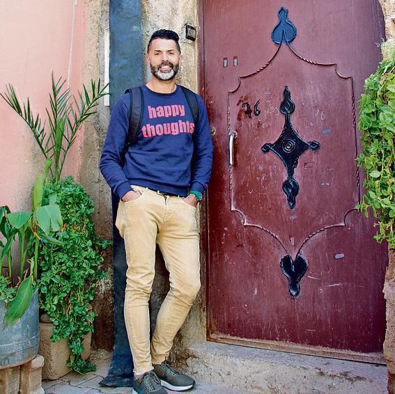 לא נשאר אף יהודי. אבקסיס ליד בית אביו ברובע היהודי בסידיר חאל | צילום: נבו זיו