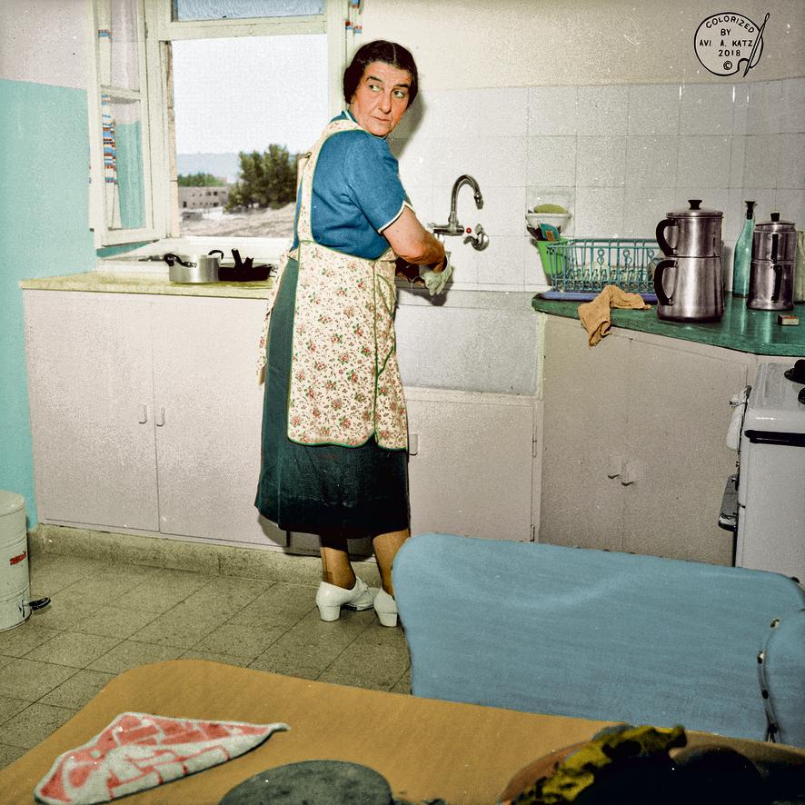 גולדה מאיר במטבח המפורסם שלה