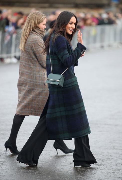 בין מרקל לבית האופנה הבריטי הוותיק ברברי מתקיימים יחסי גומלין ממושכים (צילום: Chris Jackson/GettyimagesIL)