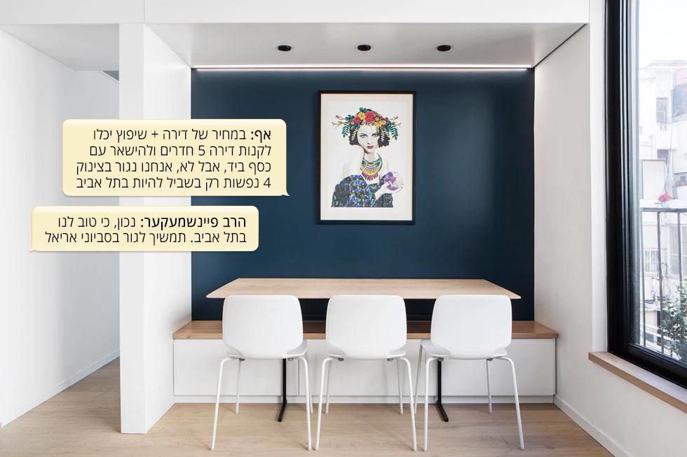 תל אביב. דירת 54 מטרים רבועים למשפחה בת ארבע נפשות. מעצבת: מעיין זוסמן  (צילום: איתי בנית)