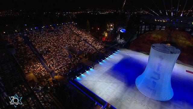 טקס נעילת אירועי יום הזיכרון ופתיחת אירועי יום העצמאות הר הרצל ירושלים (צילום: אולפני הרצליה)