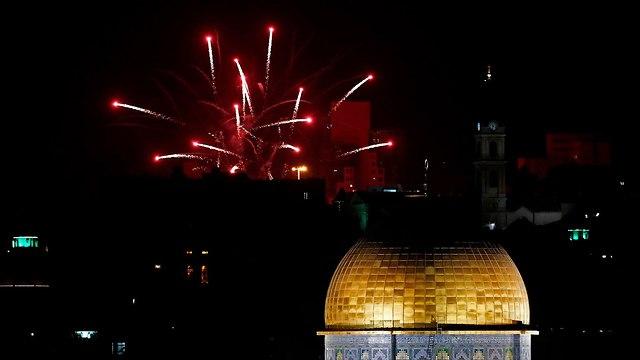 Independence Day fireworks in Jerusalem, 2018