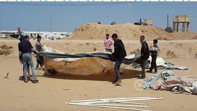 Палаточный городок в секторе Газы