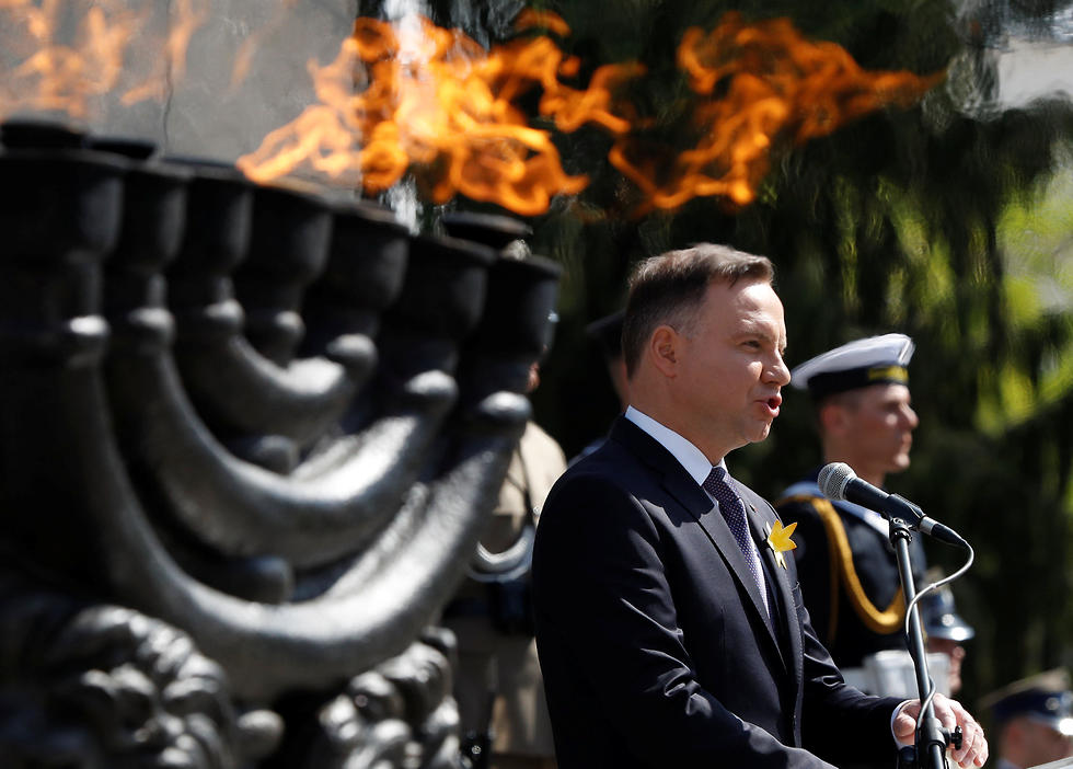 Polish President Andrzej Duda at ceremony commemorating Warsaw Ghetto uprising (Photo: Reuters)