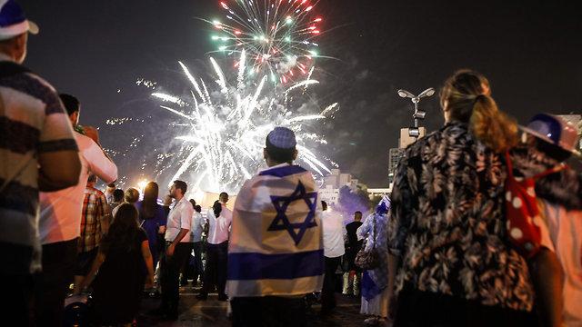 חגיגות 70 שנה לישראל (צילום: AFP)