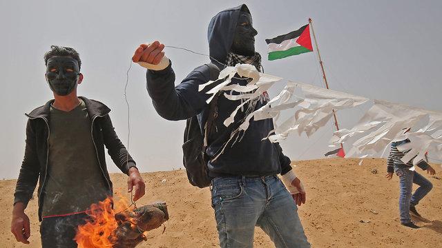 צעדת השיבה בעזה (צילום: AFP)