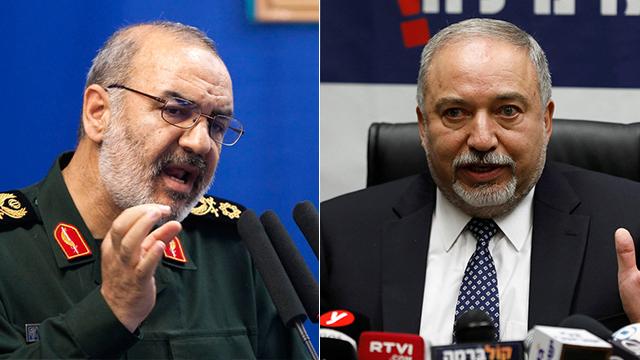 Salami (L) and Lieberman (Photo: Reuters)