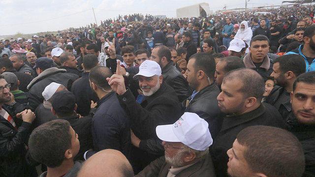אסמאעיל הנייה בצעדת השיבה בעזה ()