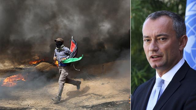 """L'envoyé spécial de l'ONU au Proche-Orient, Mladenov, a déclaré que la situation à Gaza était """"tragique"""" (Photo: AP, Reuters)"""