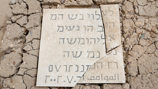 A cracked tombstone in the Baghdad Jewish cemetery. Precious few members of Iraq's once vibrant Jewish community remain (Photo: Reuters)