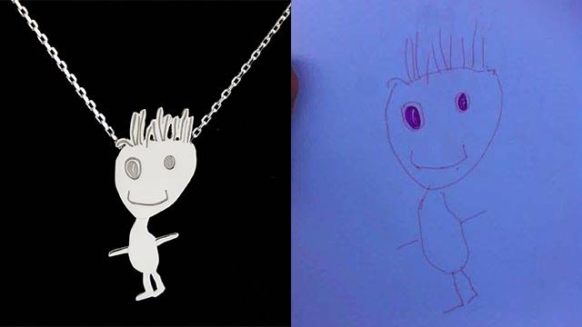 תכשיט מציור ילדים (צילום: אלבום פרטי)