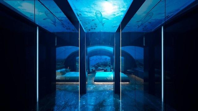 וילה תת-ימית באיים המלדיביים (צילום: Conrad Hotels & Resorts)