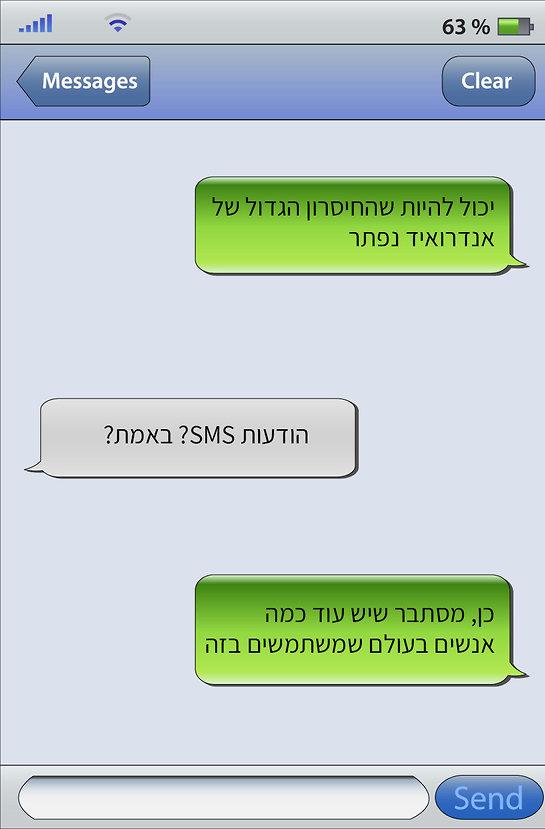 כמו באייפון. הודעת SMS (אילוסטרציה: Shutterstock)