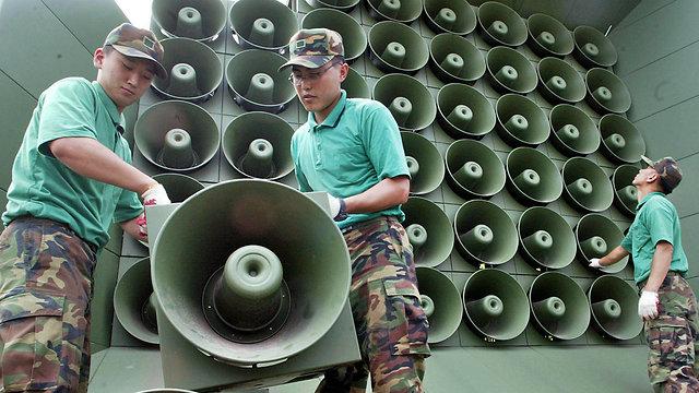 צפון קוריאה השתקת שידורי תעמולה משדרים (צילום: AP)