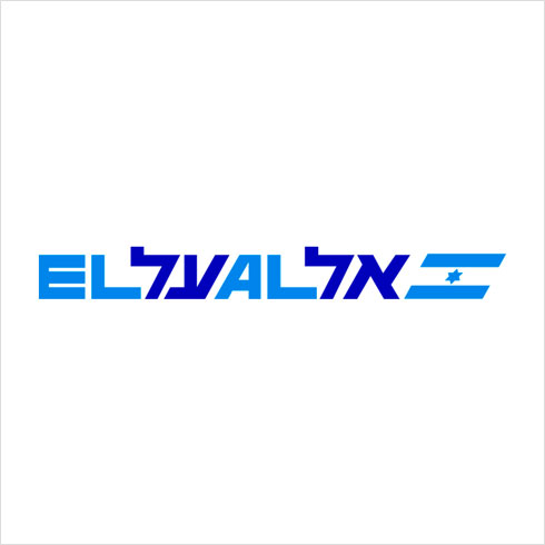 במקום הרביעי: הלוגו הנודע של דן ריזינגר לחברת התעופה הלאומית (שבשנים האחרונות לא ידע שקט)