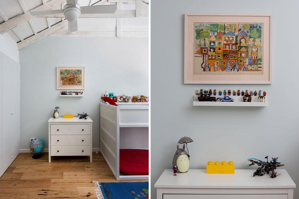 בחדר הילדים תלוי הציור היחיד שהיה בבית הזה תמיד ושאותו שמרה בהרב - איור של רות צרפתי (צילום: שירן כרמל)