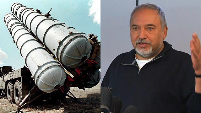 Russian-made S-300 missiles; Defense Minister Lieberman (Photos: EPA, Shamir Elbaz)