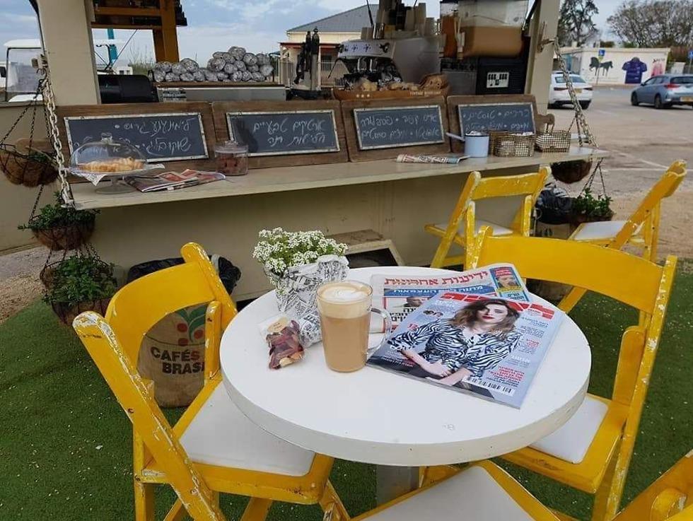 קפה בעגלה (צילום: יח