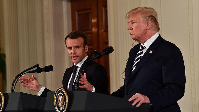 President Macron with President Trump (Photo: AFP)