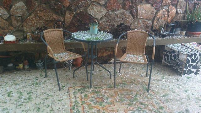 גשם וברד בערד (צילום: ענת רסקין)
