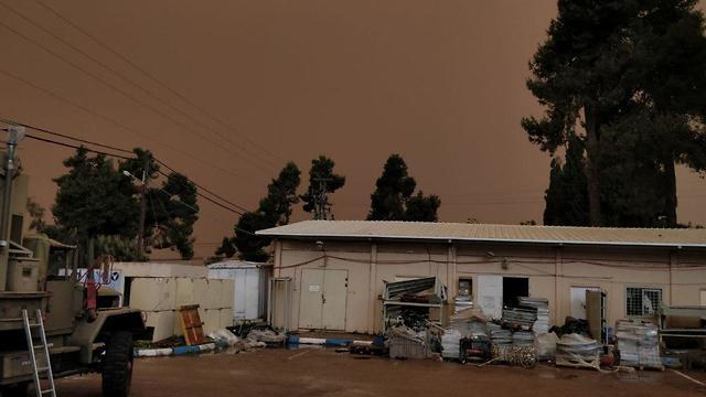 Приближение бури. Цфат. Фото: Менди Агив