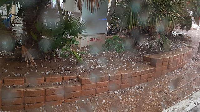 Hail in Tel Aviv