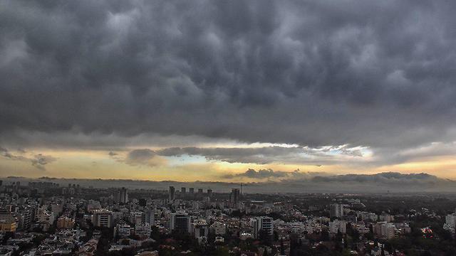 סערה ברמת גן (צילום: סיגל קאשי)