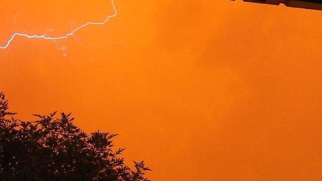 סערה ברמת הגולן (צילום: ינעם אודין)