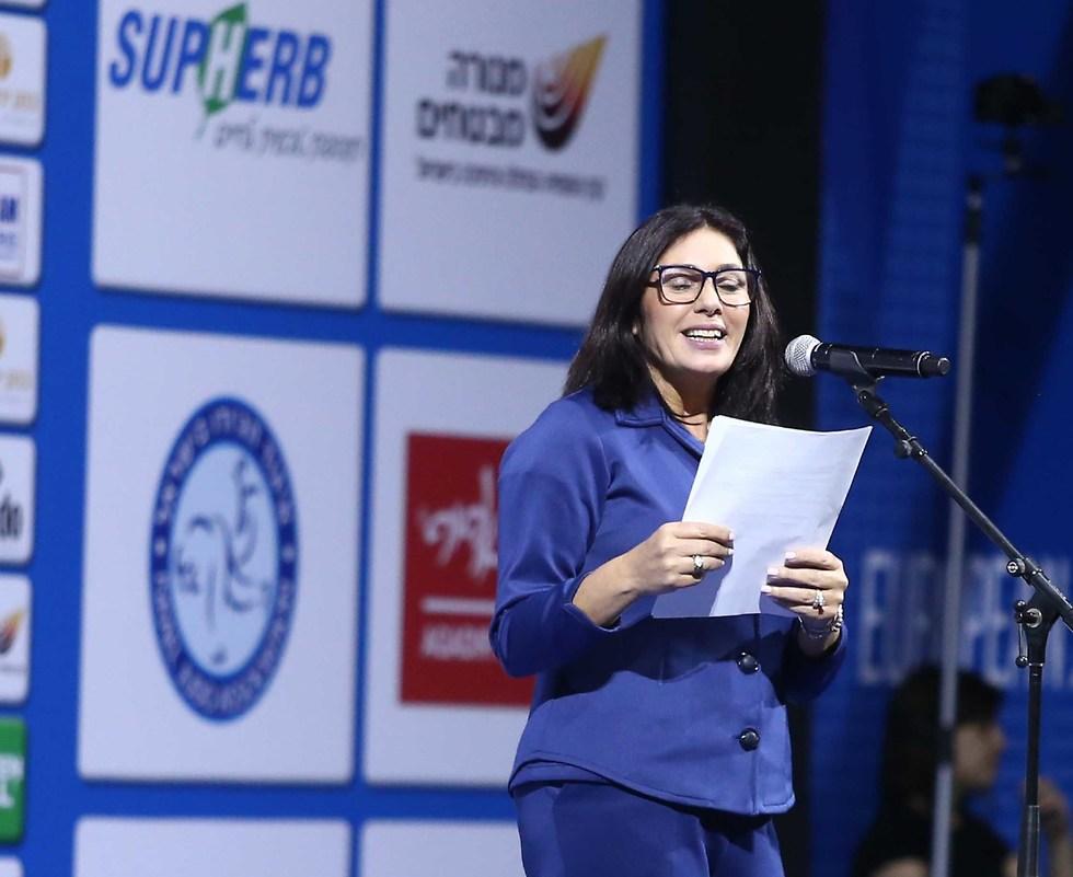 מירי רגב בטקס הפתיחה של אליפות אירופה בג'ודו (צילום: ראובן שוורץ)