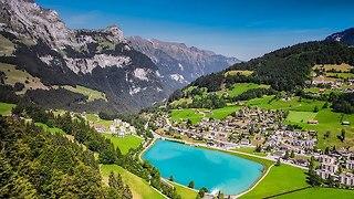 הנוף בדרך להר הטיטליס, שוויץ (צילום: Depositphotos)