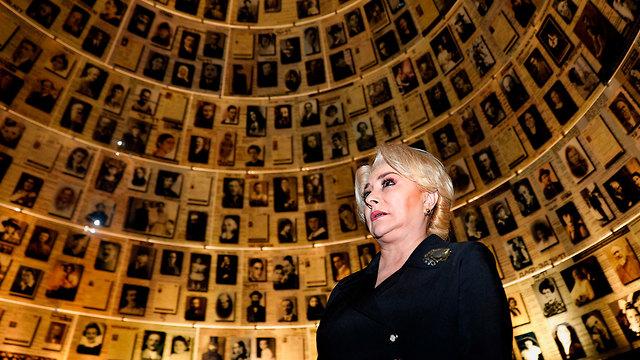 Dăncilă at Jerusalem's Yad Vashem Holocaust Museum (Photo: AFP)