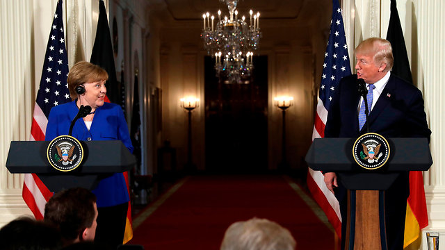 Merkel and Trump meet at the White House (Photo: AP)