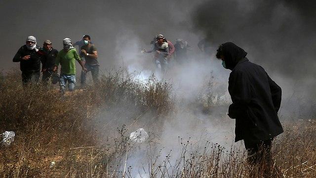 הפרות סדר התפרעויות גבול רצועת עזה פלסטינים צה