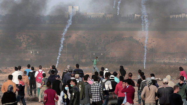 Gaza border protest (Photo: AFP)