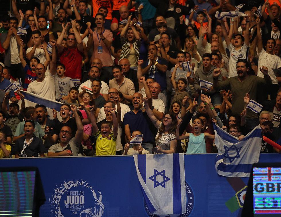 הצופים באליפות אירופה בתל אביב (צילום: אורן אהרוני)